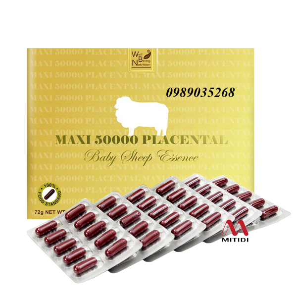 Viên nhhau thai cừu Maxi 50000 Placental Well-Being