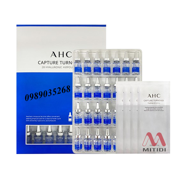 Tinh chất cấp ẩm AHC Capture Turnover 28 Hyaluronic Ampoule Set