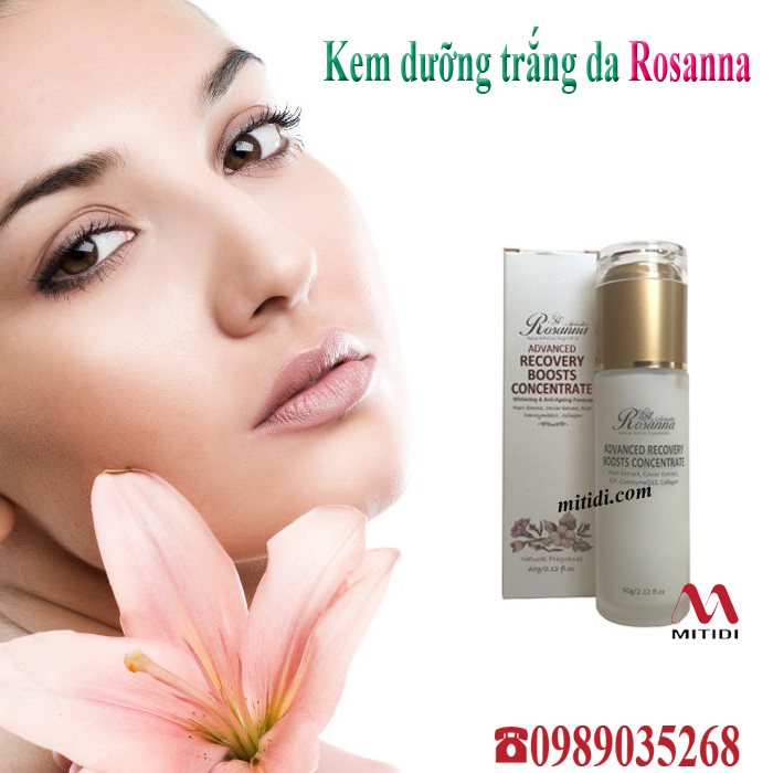 Review kem dưỡng da Rosanna Advanced Recovery Boosts Concentrate