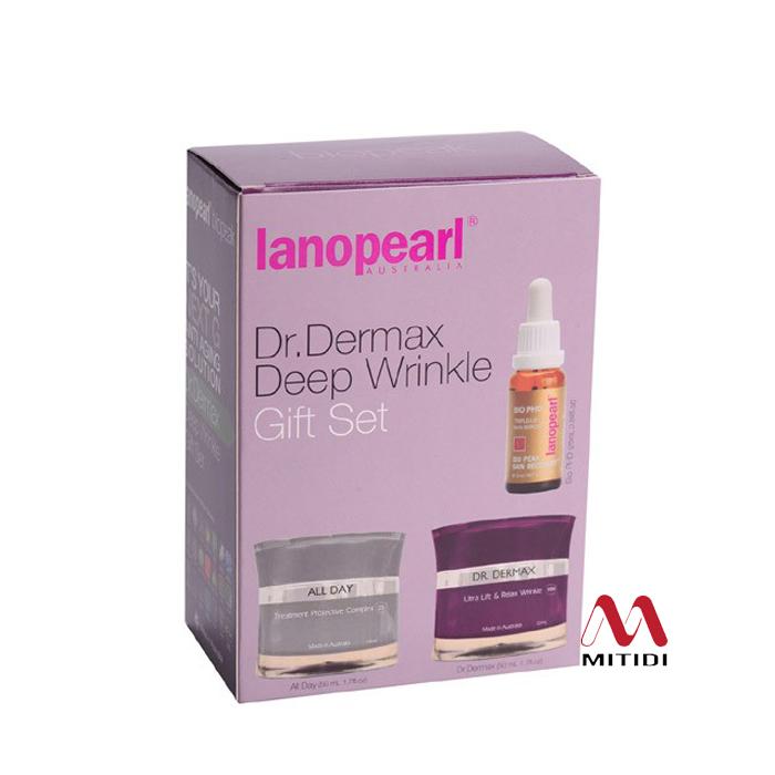 Bộ kem chống nhăn và nâng cơ Lanopearl Dr Dermax Deep Wrinkle Gift Set
