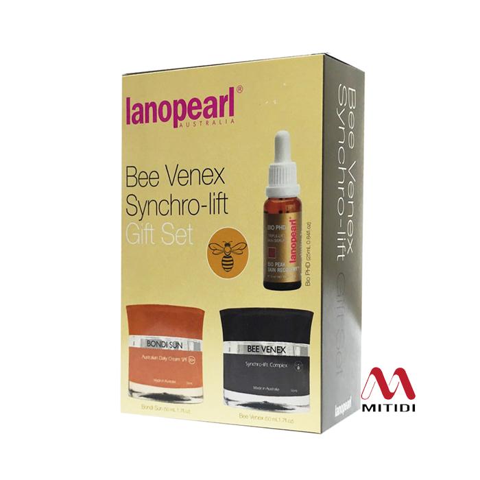 Bộ kem nâng cơ Lanopearl Bee Venex Synchro-Lift Gift Set của Úc