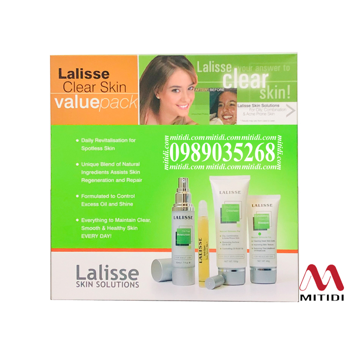 Bộ sản phẩm trị mụn Lalisse Clear Skin Value Pack