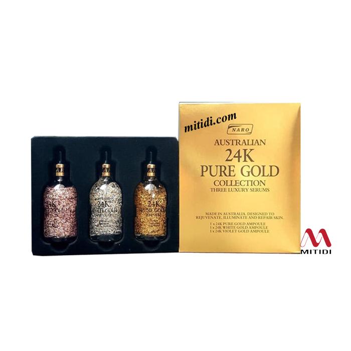 Bộ serum tinh chất vàng 24K Naro Pure Gold Collection Luxury Serums