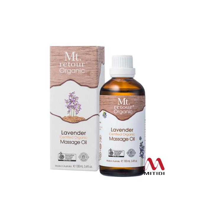 Dầu massage oải hương Lavender Massage Oil Certified Organic Mt retour