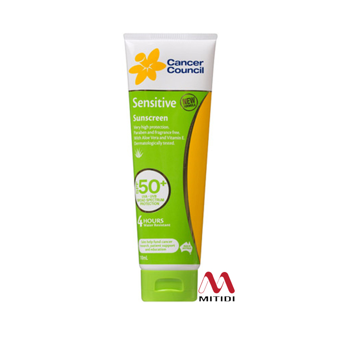 Kem chống nắng Cancer Council Sensitive Sunscreen SPF50+