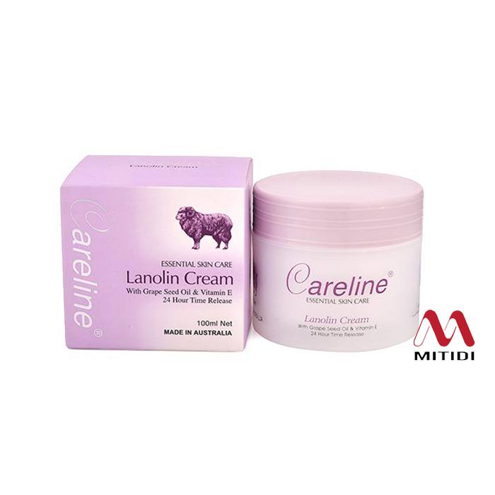 Kem cừu Careline Lanolin Cream with Grape Seed Oil & Vitamin E