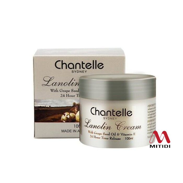 Kem cừu Chantelle Lanolin Cream with Grape Seed Oil Vitamin E