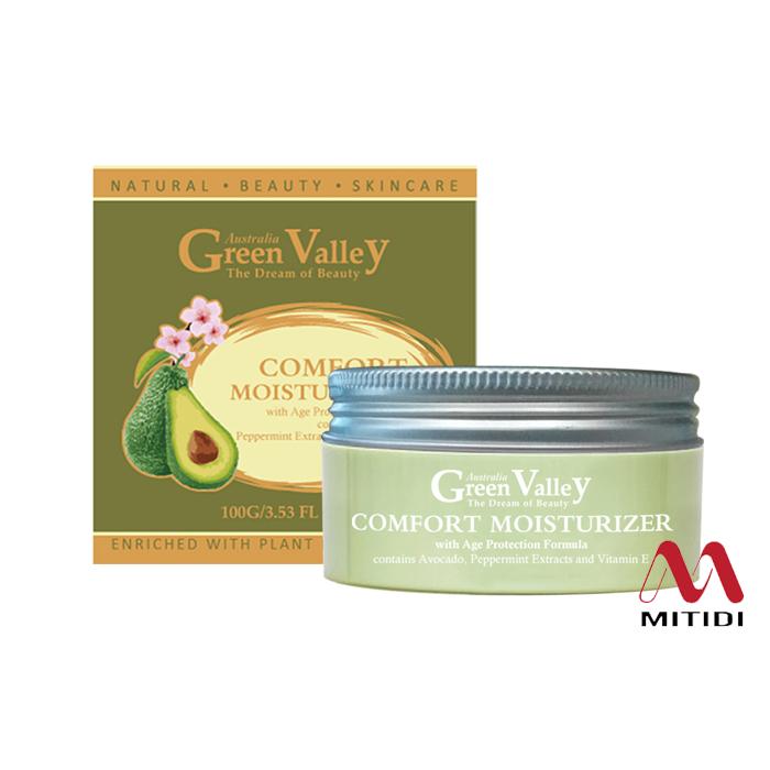 Kem dưỡng ẩm Green Valley Comfort Moisturizer tinh chất quả Bơ