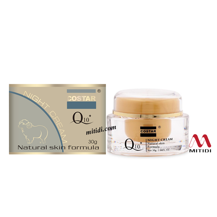 Kem dưỡng da Costar Q10 Night Cream Natural Skin Formula