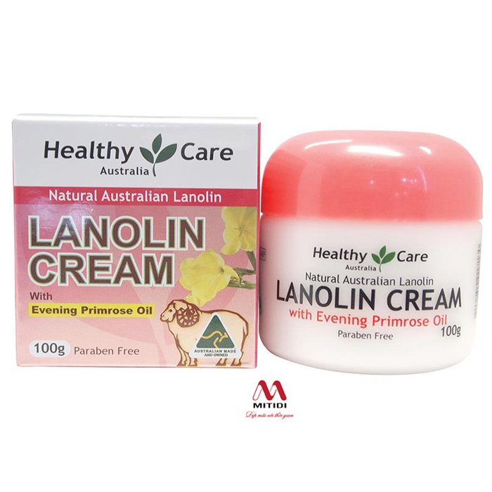 Kem cừu Healthy Care Lanolin Cream With Evening Primrose Oil