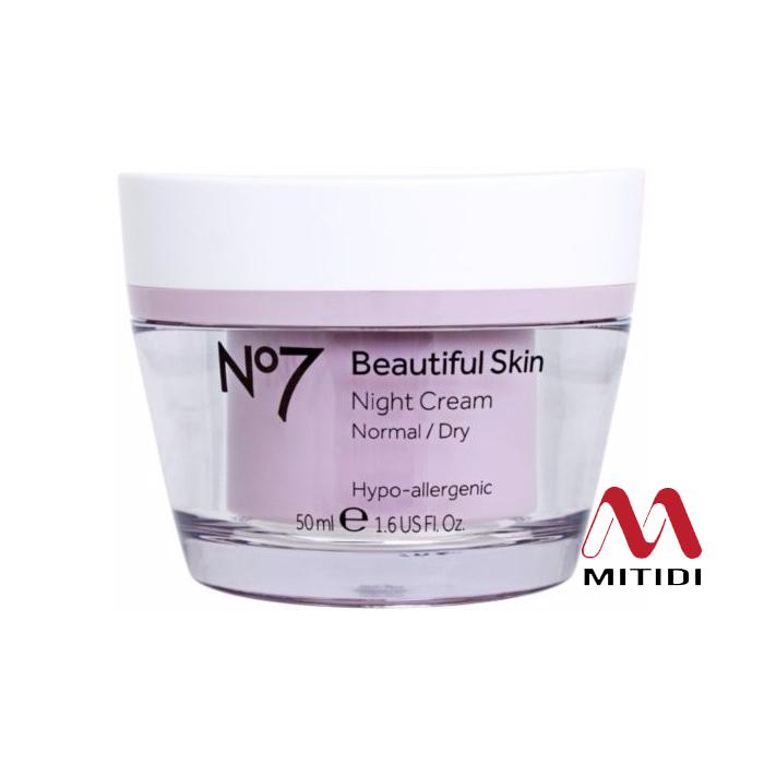 Kem dưỡng da No7 Beautiful Skin Night Cream Normal Dry ban đêm