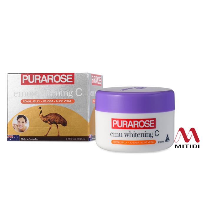 Kem dưỡng da Purarose Emu Whitening C