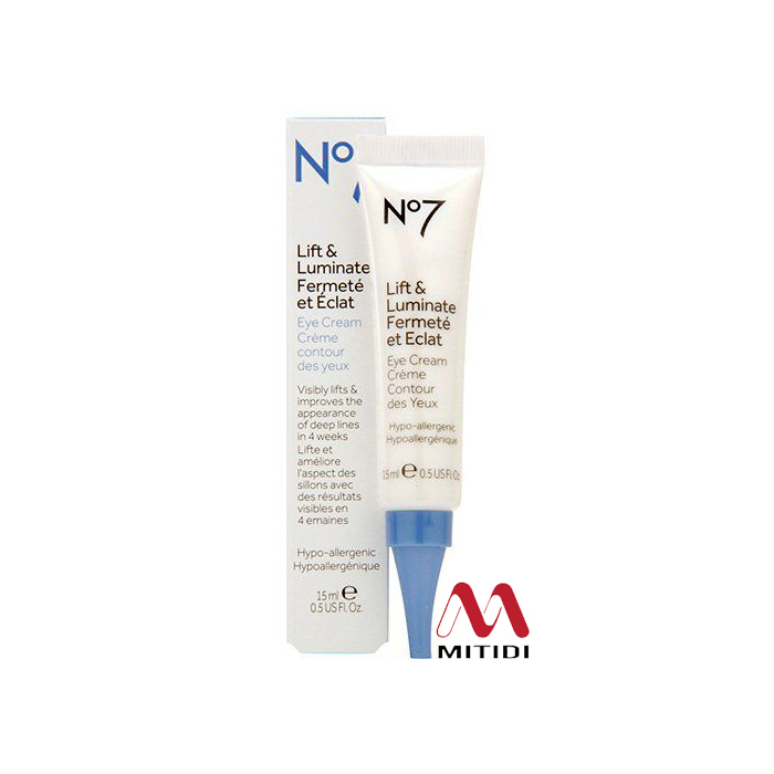 Kem dưỡng mắt No7 Lift & Luminate Eye Cream