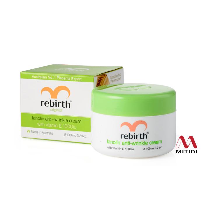 Kem nhau thai cừu Rebirth lanolin anti wrinkle cream with Vitamin E