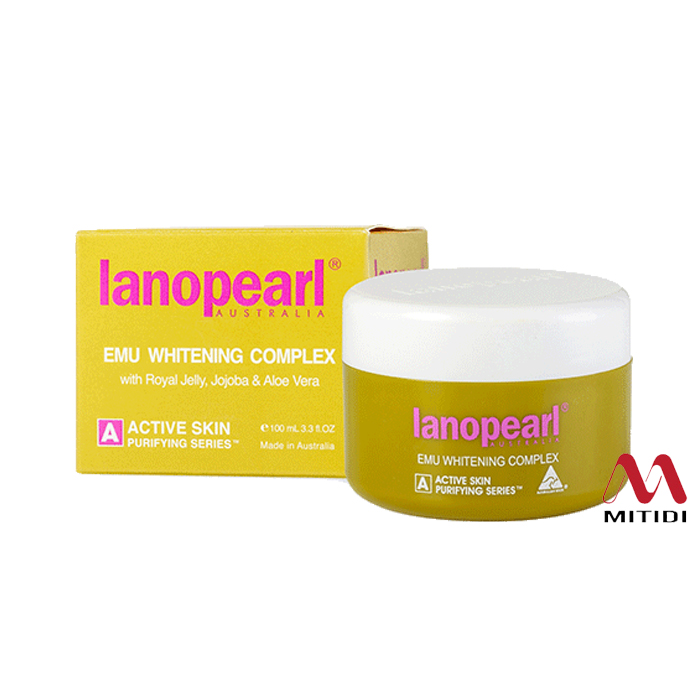 Kem trắng da Lanopearl Emu Whitening Complex tinh dầu đà điểu
