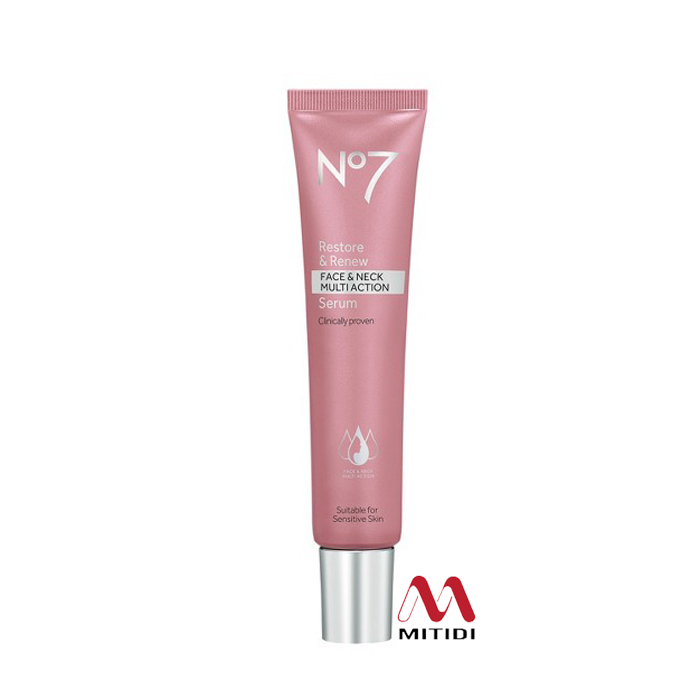 Serum chống lão hóa No7 Restore & Renew Face & Neck Multi-Action