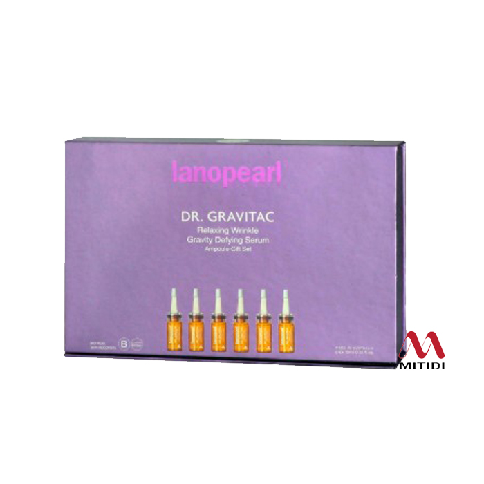 Serum Tế Bào Gốc Lanopearl Dr Gravitac Relaxing Wrinkle Gravity Defying Serum Ampoule Gift Set