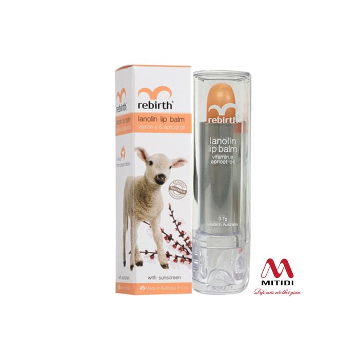 Son dưỡng môi cừu Rebirth Lanolin Lip Balm của Úc