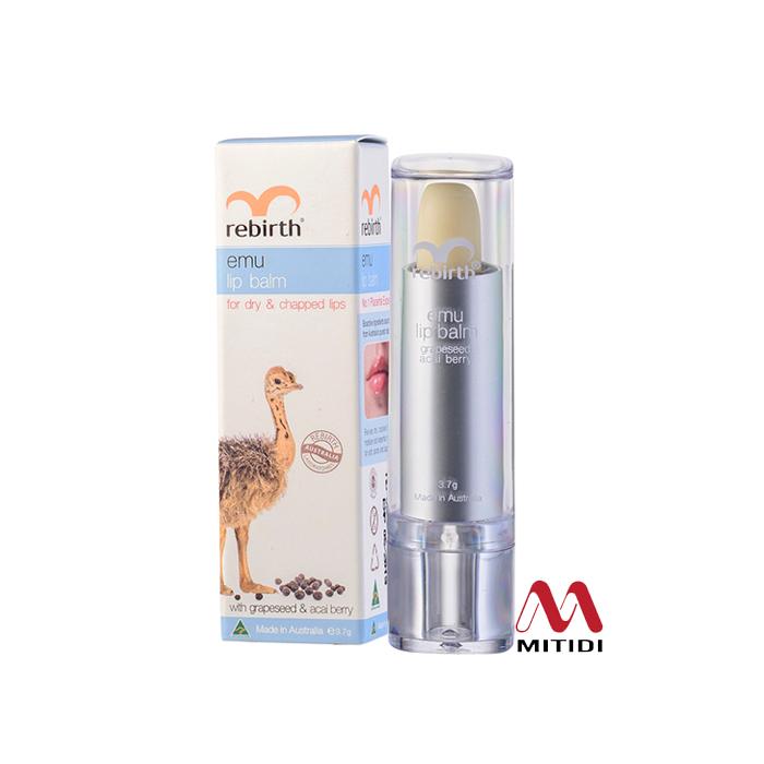 Son Dưỡng Môi Rebirth Emu Lip Balm tinh dầu đà điểu