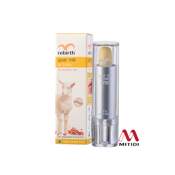 Son Dưỡng Môi Rebirth Goat Milk Lip Balm của Úc