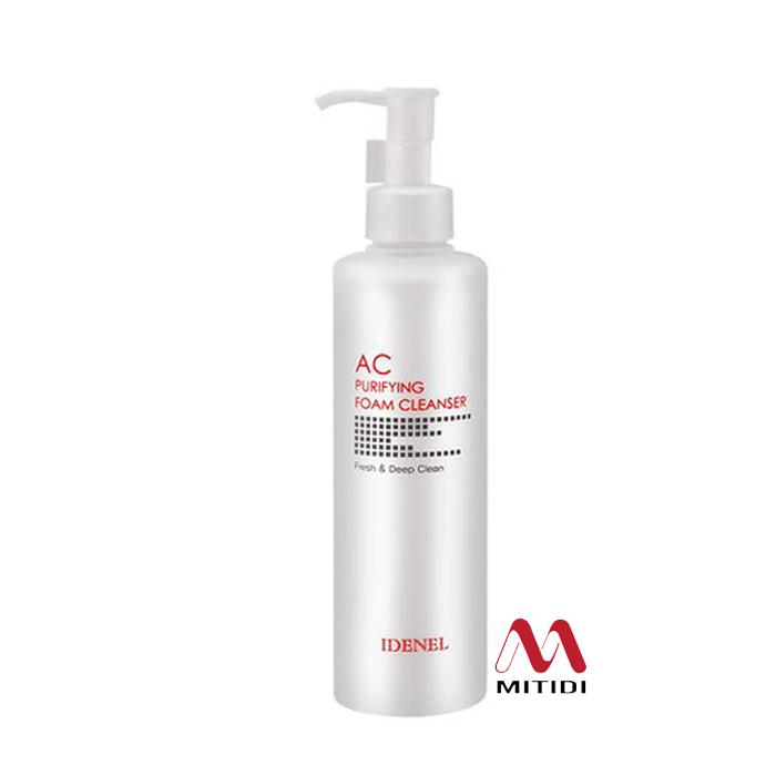 Sữa rửa mặt cho da nhạy cảm mụn Idenel AC Purifying Foam Cleanser