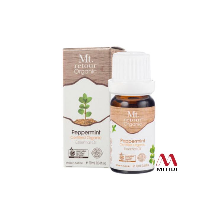 Tinh dầu bạc hà Peppermint Certified Organic Essential Oil Mt retour
