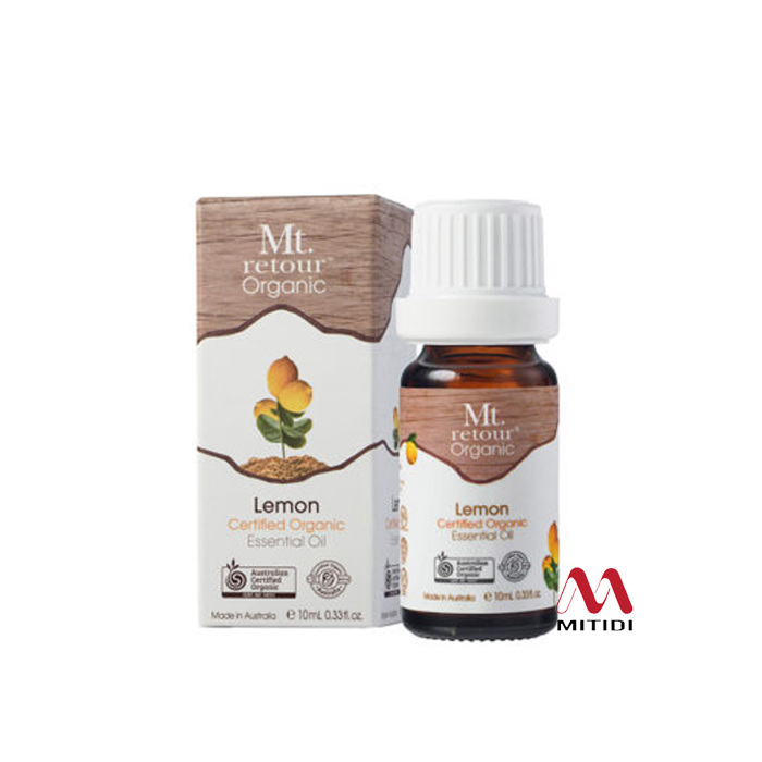 Tinh dầu chanh Lemon Certified Organic Essential Oil Mt retour