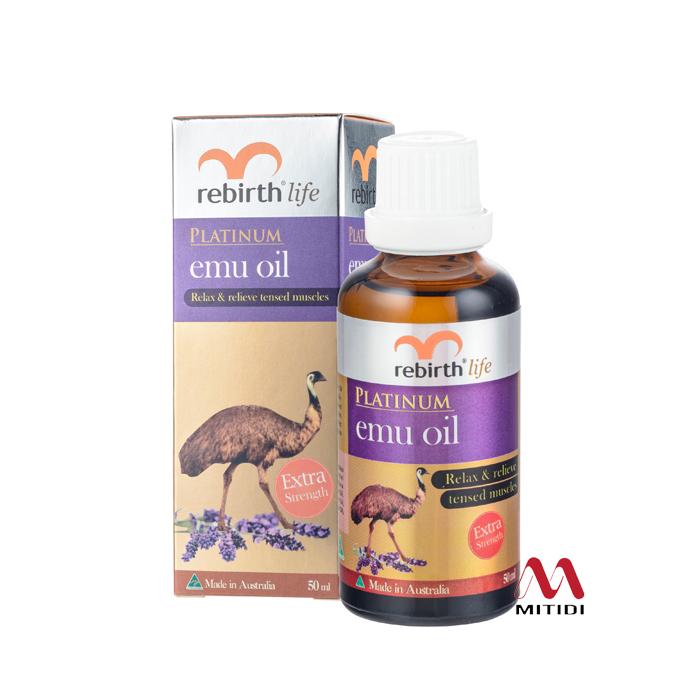 Tinh dầu đà điểu Rebirth Life Platinum High Strength Emu Oil