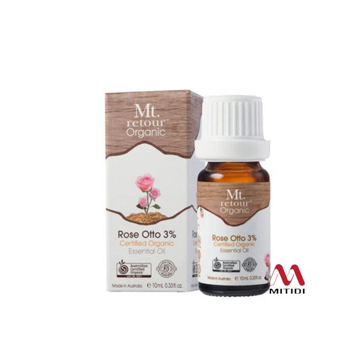 Tinh dầu hoa hồng Rose Otto (3%) Certified Organic Essential Oil Mt retour