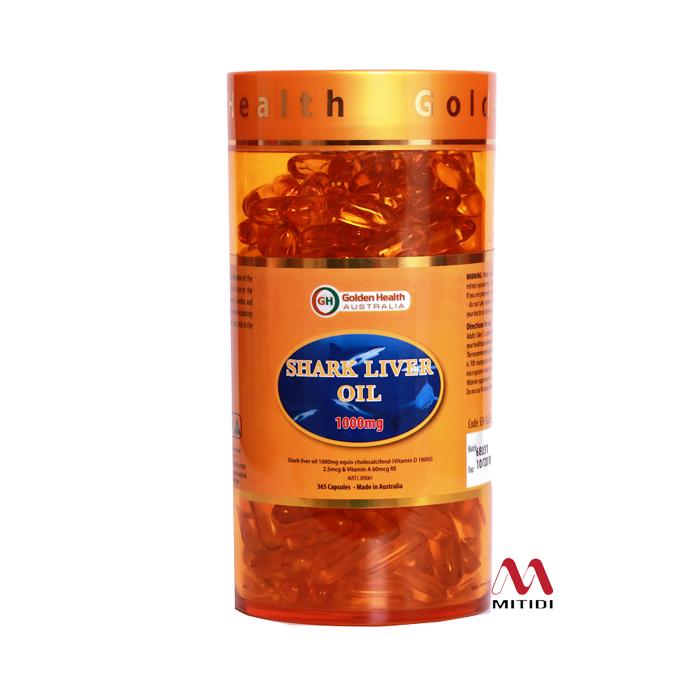 Viên dầu gan cá mập Golden Health Shark Liver Oil 1000mg