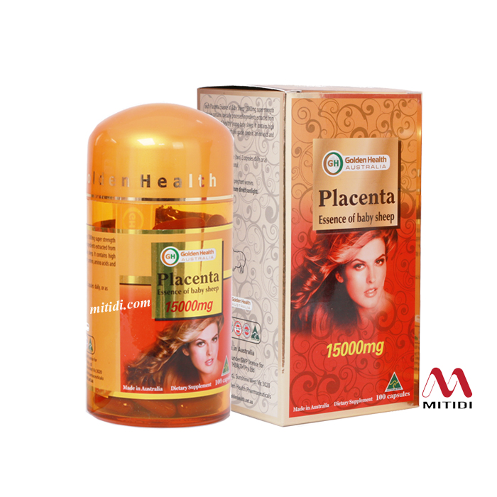 Viên nhau thai cừu Golden Health Placenta Essence of Baby Sheep 15000mg