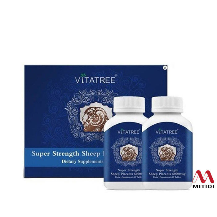 Viên nhau thai cừu Vitatree 60000mg Super Strength Sheep Placenta