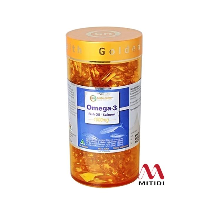Viên uống dầu cá hồi Omega 3 Fish Oil Salmon 1000mg Golden Health