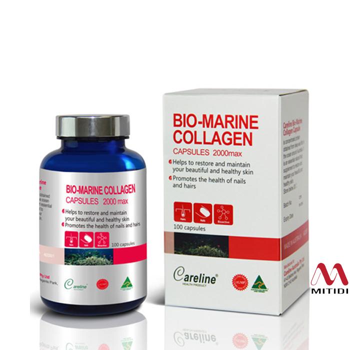 Viên uống đẹp da Collagen Careline Bio Marine Collagen 2000max