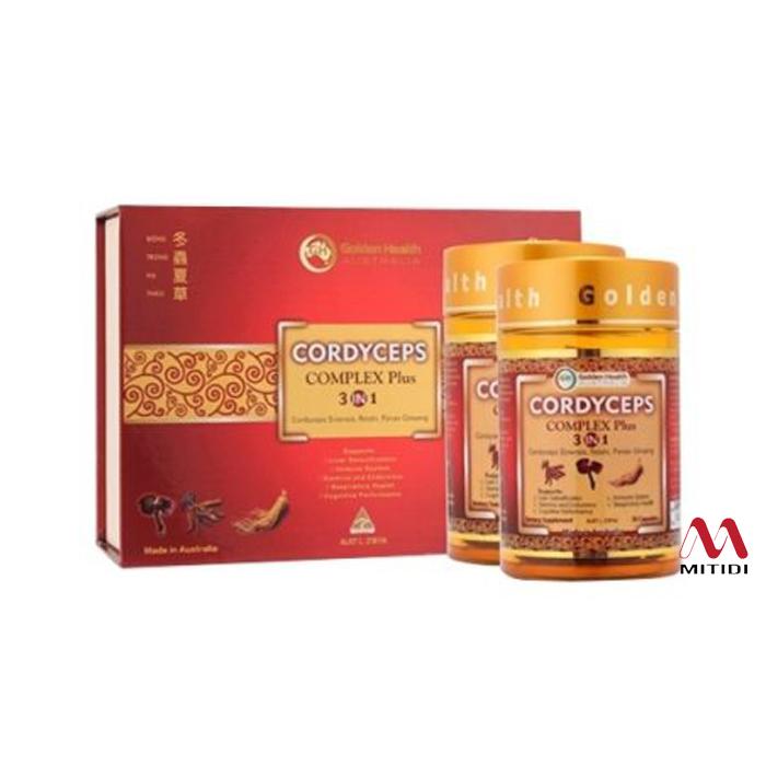 Viên uống đông trùng hạ thảo Golden Health Cordyceps Complex Plus 3 in 1