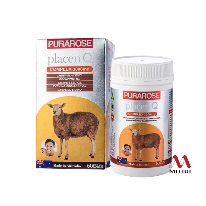 Viên uống nhau thai cừu Purarose Placenta Q Complex 3000mg