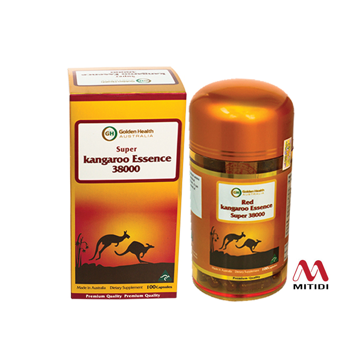 Viên uống tăng cường sinh lý nam giới Red Kangaroo Essence Super 38000mg Golden Health
