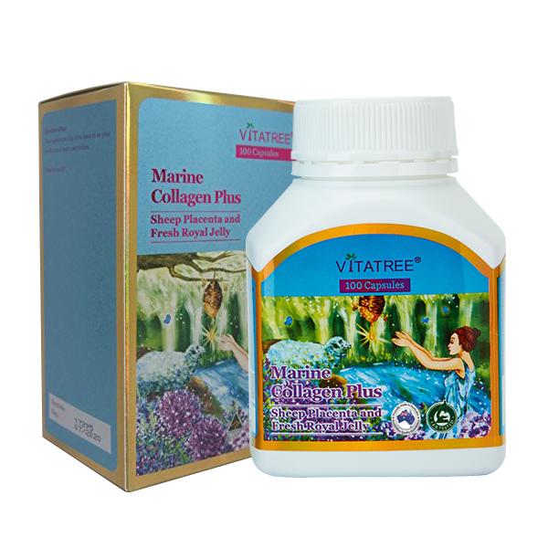 Viên uống Collagen Vitatree Marine Collagen Plus