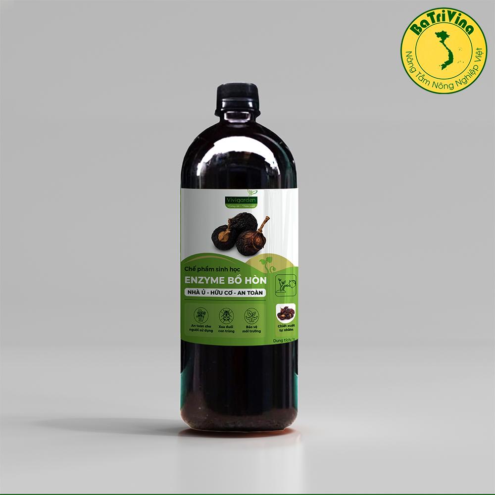 Chai 1 Lít ENZYME BỒ HÒN Nhà Ủ - phun cây phòng bọ hút chích, giặt đồ rửa chén