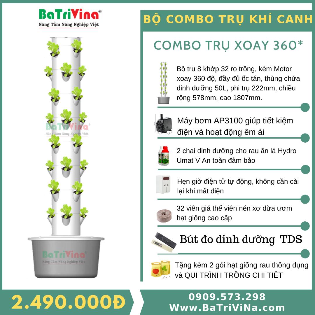 COMBO TRỤ CỐ ĐỊNH (Full phụ kiện trồng)
