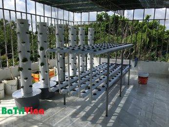 Thi công ngay trong ngày khuôn viên trồng rau sân thượng cho khách hàng Hóc Môn