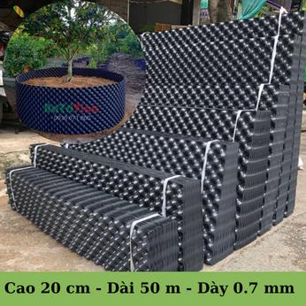 Bầu Nhựa Dưỡng Cây BoSaVina (Cao 20 cm - Cuộn dài 50 m - Dày 0.7)