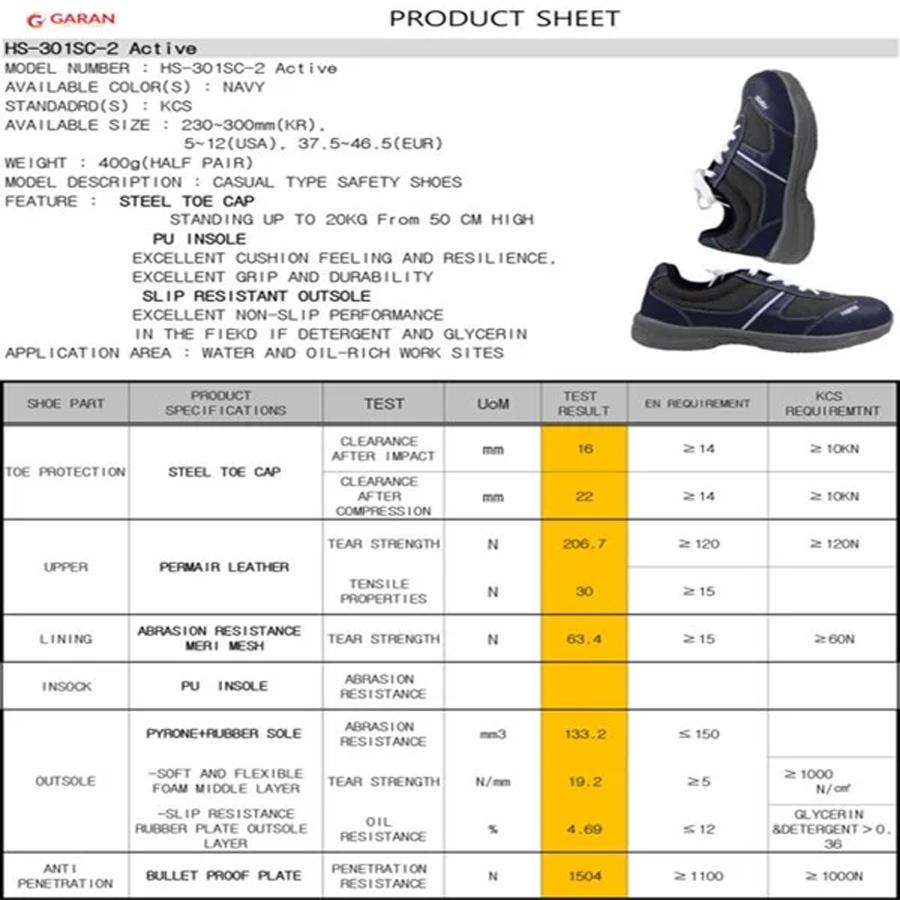 Giày bảo hộ hàn quốcGiày Bảo Hộ Hàn Quốc Hans HS-301SC-2 Nhập Khẩu