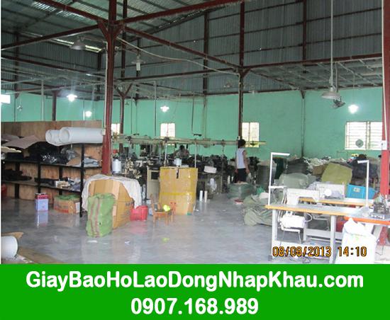 Xưởng dệt găng tay và đóng giày bảo hộ lao động công ty GARAN