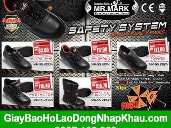 Giày bảo hộ lao động nhập khẩu Malaysia chất lượng quốc tế