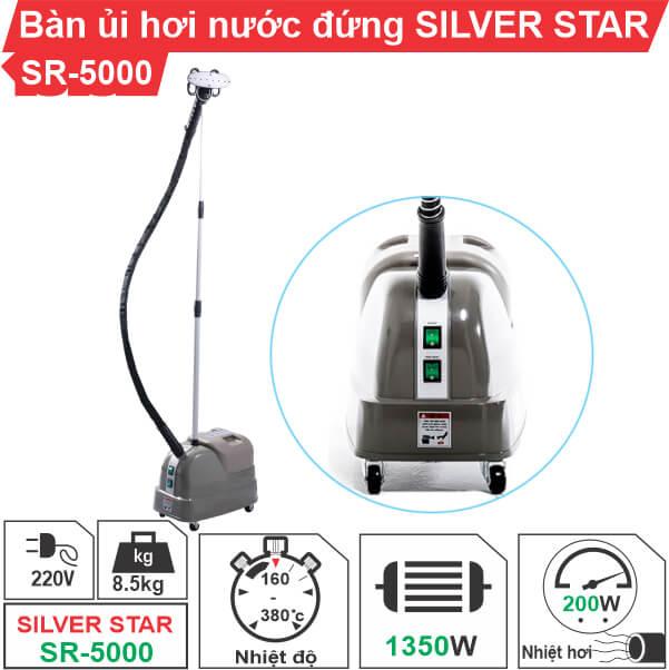 Bàn ủi hơi nước đứng công nghiệp Silver Star SR-5000 chính hãng