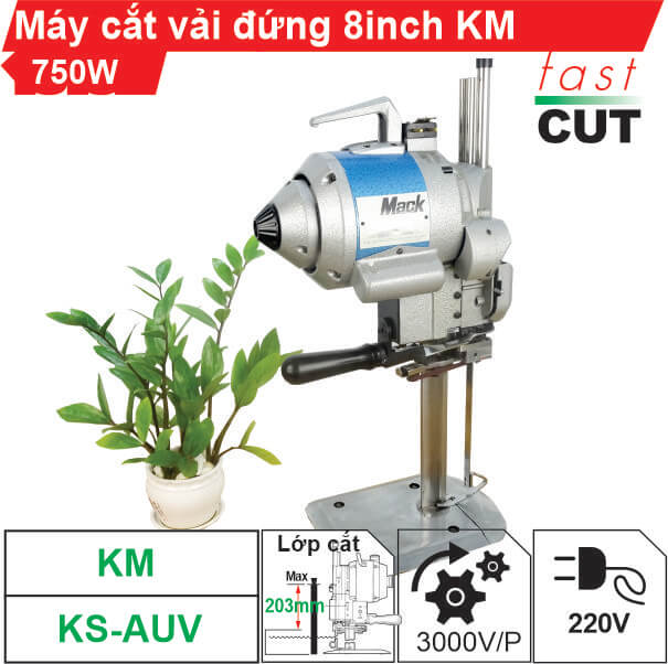Máy cắt vải đứng KM 8 inch 750W chính hãng, siêu bền