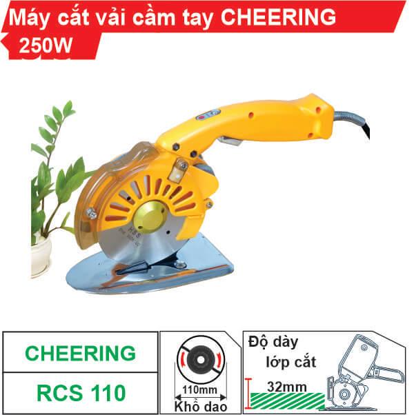 Máy cắt vải cầm tay tiết kiệm điện Cheering RCS-110 (có đèn Led)