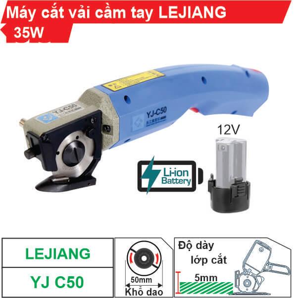 Máy cắt vải cầm tay dùng pin Lejiang YJ-C50 cao cấp, giá rẻ