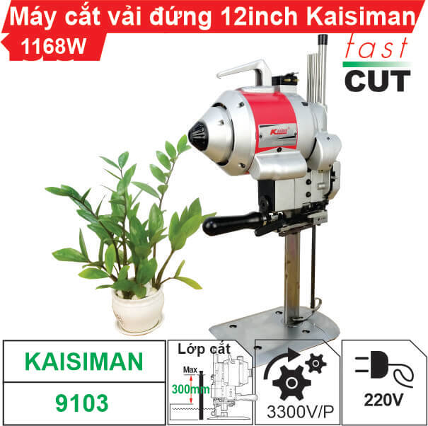 Máy cắt vải đứng 12 inch Kaisiman 1168W KSM-9103 cao cấp, giá rẻ